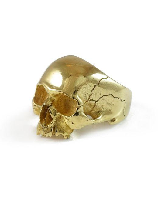 Frederick Grove | Metallic Gold Skull Ring | Lyst