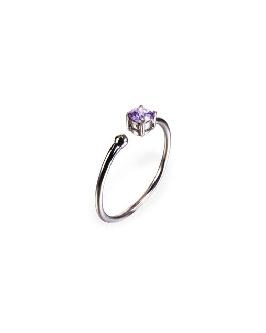 Ona Chan Jewelry | Little Jewels Open Ring Violet & Black | Lyst