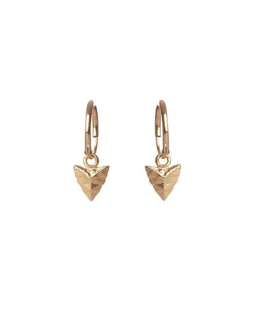 Rachel Entwistle | Metallic Modern Primitive Mini Hoops Gold | Lyst