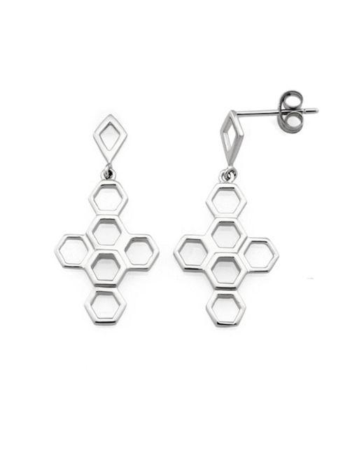 Monarc Jewellery - Metallic The Vita Hive Earrings Sterling Silver - Lyst
