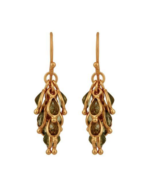 Carousel Jewels - Green Peridot Cluster Earrings - Lyst