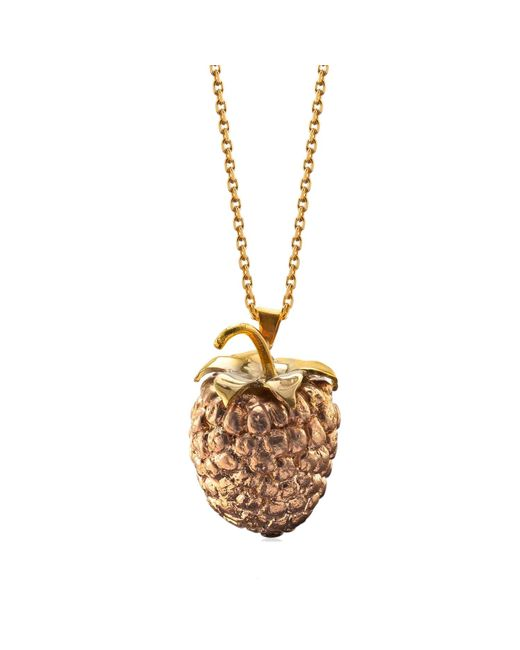 Catherine Zoraida | Metallic Raspberry Locket Pendant | Lyst