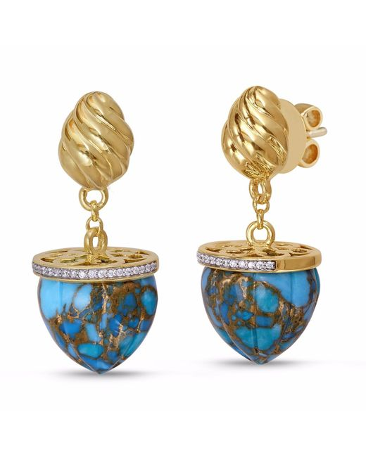 LMJ - Metallic Glory Of The Sun Earrings - Lyst