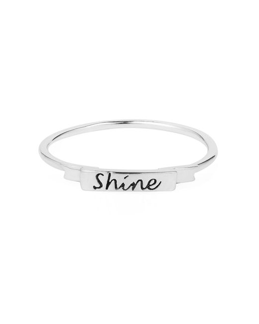 Lee Renee   Metallic Shine Ring Silver   Lyst