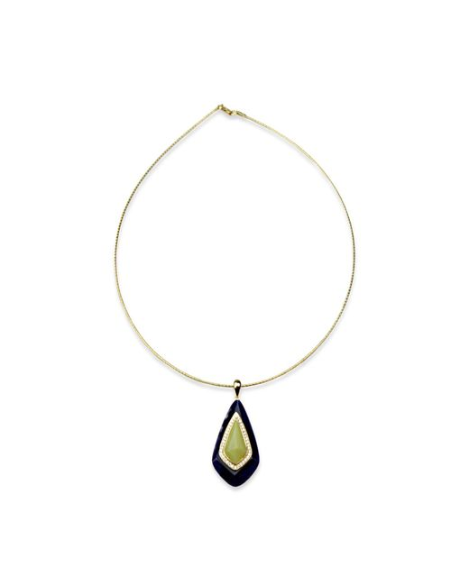 Bellus Domina - Blue Lemon Jade Necklace - Lyst