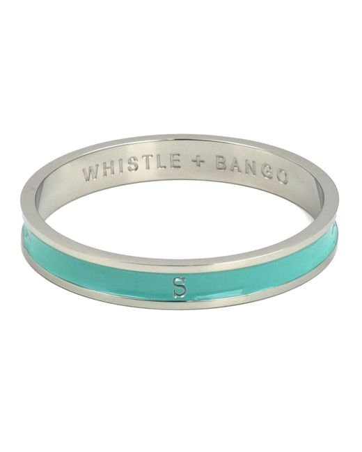 Whistle & Bango - Metallic 's' Alphabet Bangle Mint - Lyst