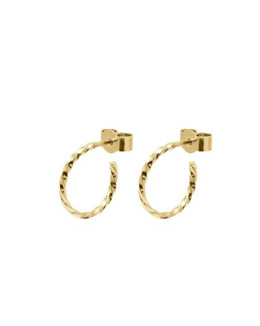 Myia Bonner - Metallic Gold Mini Twist Hoop Earrings - Lyst