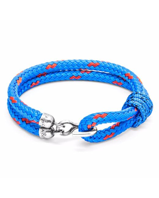 Anchor & Crew | Blue Great Yarmouth Silver & Rope Bracelet for Men | Lyst