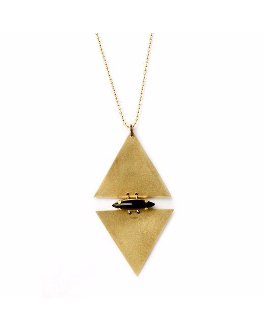 Nakibirango - London - Metallic Gold Plated Elements Necklace - Lyst