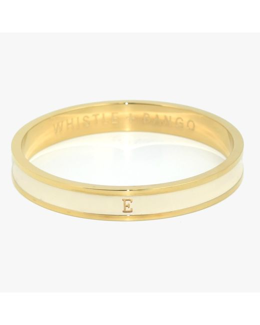 Whistle & Bango - Metallic Cream Alphabet Bangle Reg - Lyst