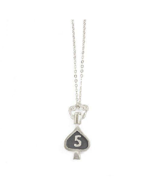 Bark | Metallic Silver Mambo Number Five Necklace | Lyst