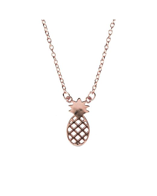 Latelita London - Metallic Cosmic Pineapple Necklace Rosegold - Lyst