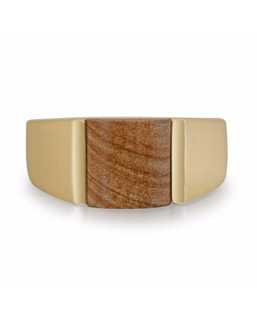 LMJ | Multicolor Wood Jasper Stone Ring for Men | Lyst