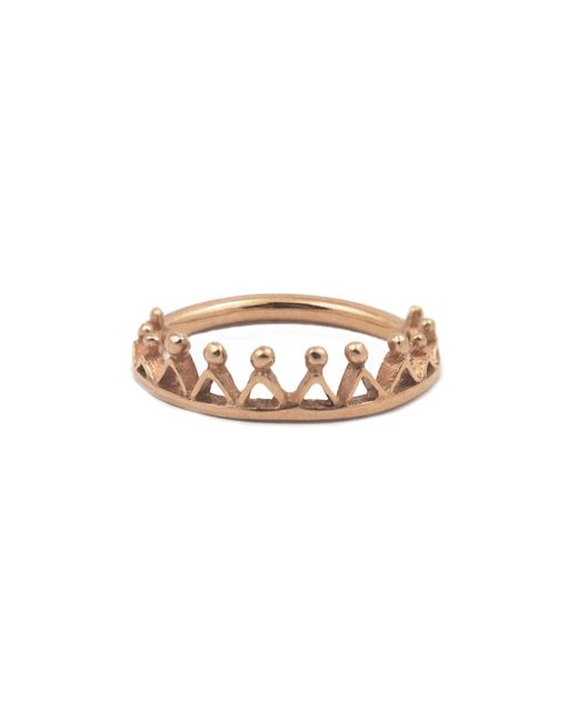 Annabelle Lucilla Jewellery | Metallic Dainty Stella Crown Ring Rose Gold | Lyst