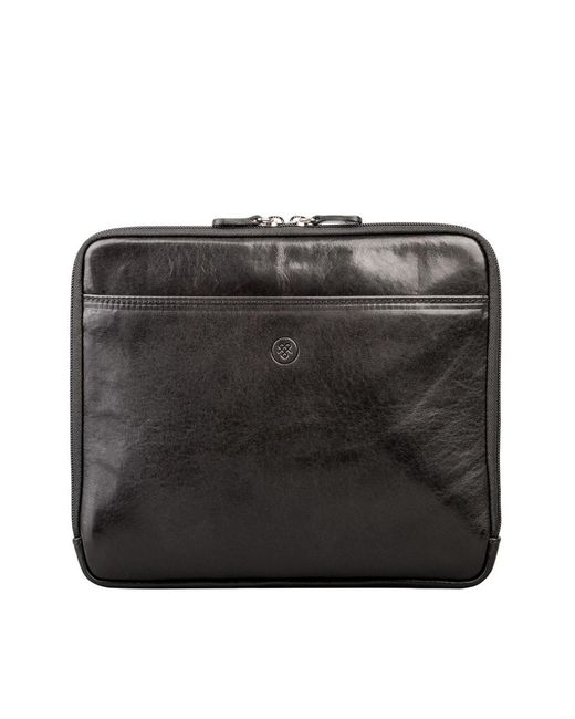 Maxwell Scott Bags | Luxury Black Leather Ipad Sleeve The Luzzi for Men | Lyst