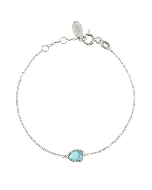Latelita London - Metallic Pisa Mini Teardrop Bracelet Silver Blue Topaz - Lyst