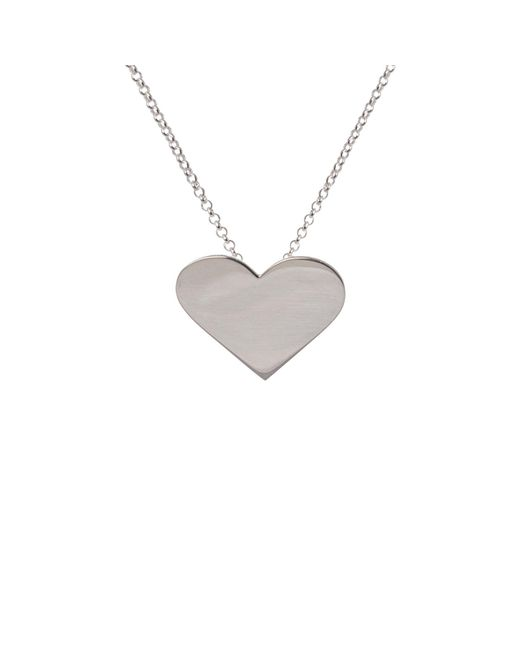 Edge Only | Metallic Heart Pendant Silver | Lyst