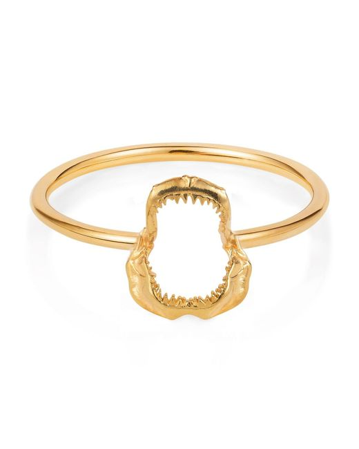 Lee Renee - Metallic Mini Shark Jawbone Ring Gold Vermeil - Lyst