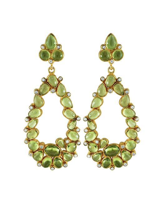 Carousel Jewels | Green Peridot & Crystal Statement Earrings | Lyst