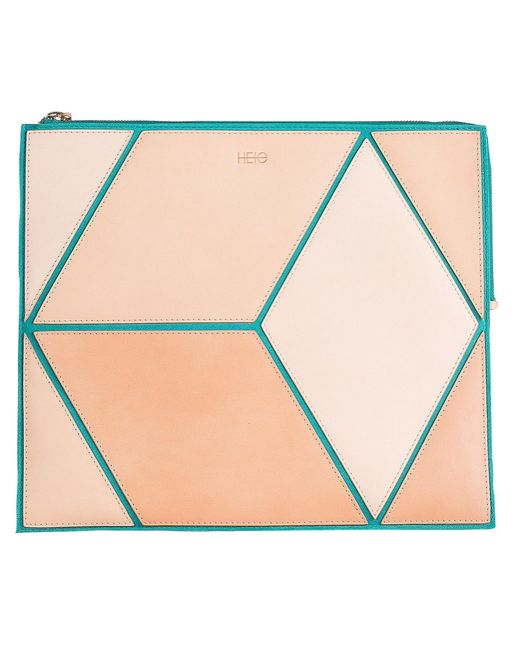 Heio The Cube Turqueta Large Clutch Lyst