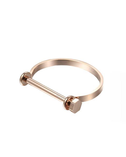 Opes Robur | Metallic Rose Gold Bolt On Screw Cuff Bracelet | Lyst