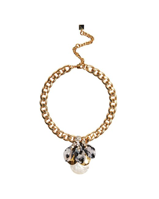 Nocturne | Metallic Lan Necklace | Lyst