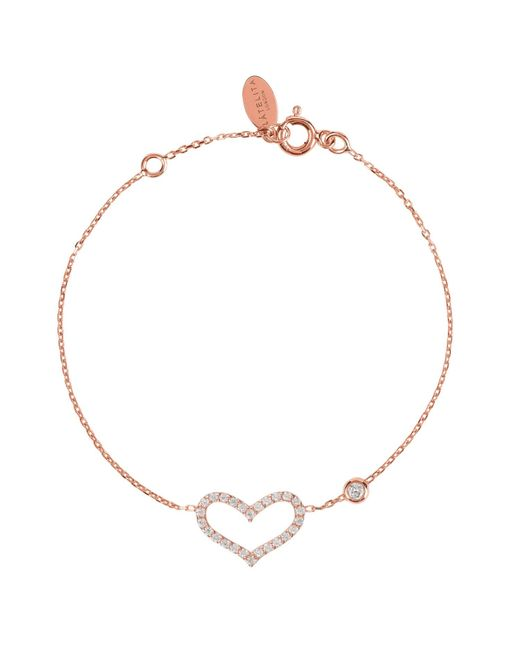 Latelita - Multicolor Open Heart Bracelet Rosegold - Lyst