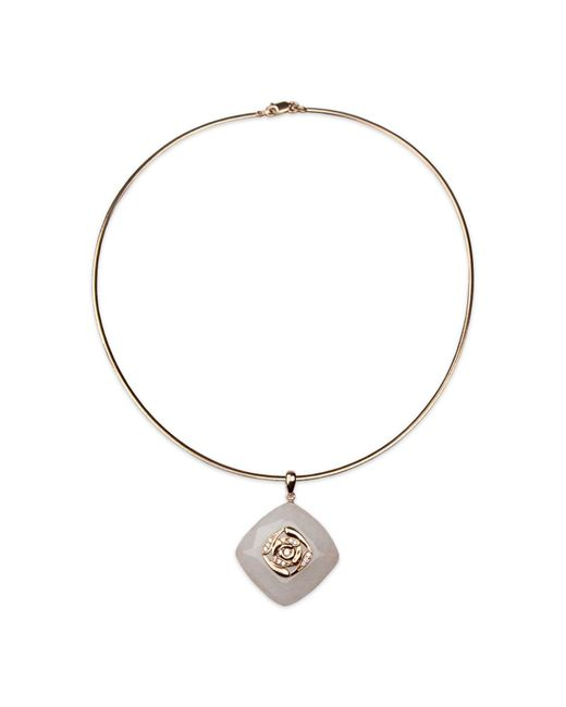Bellus Domina - White Milky Onyx Necklace - Lyst