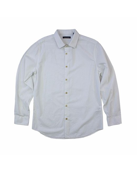 Lords of Harlech | Woven Shirt In White Jacquard for Men | Lyst