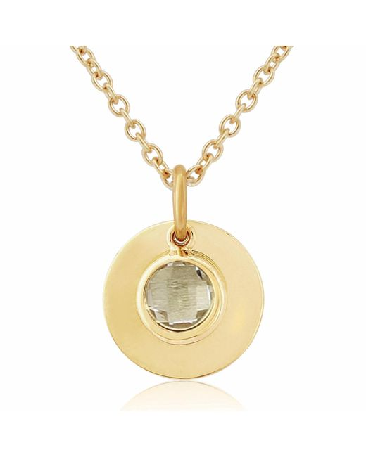 Auree Jewellery - Metallic Bali 9ct Gold April Birthstone Necklace White Topaz - Lyst