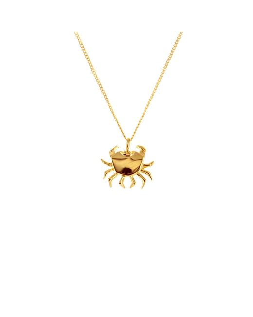 Origami Jewellery - Metallic Mini Crab Necklace Gold - Lyst
