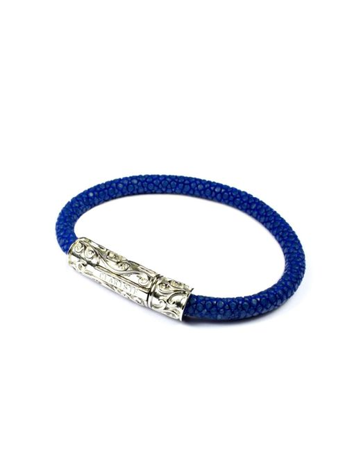 CLARISTE JEWELRY | Men's Blue Stingray Bracelet With Silver Lock for Men | Lyst