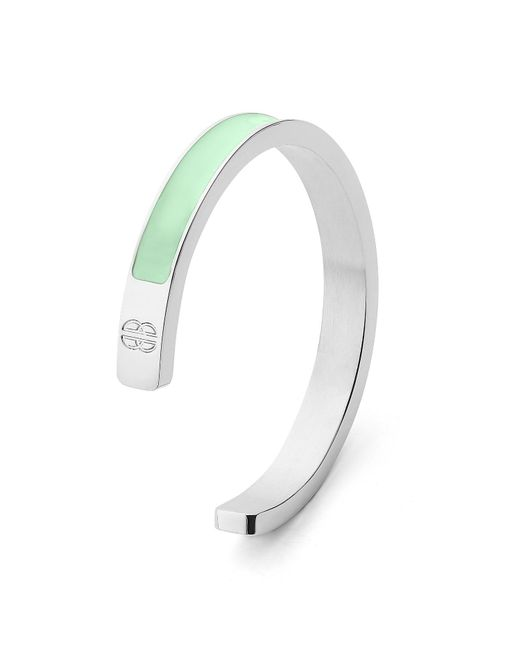 Whistle & Bango | Metallic Mint + Silver Solid Cuff | Lyst