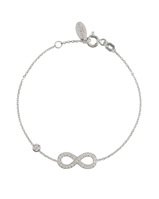 Latelita London - Metallic Eternity Bracelet Silver - Lyst