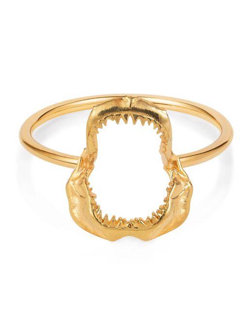 Lee Renee - Metallic Shark Jawbone Ring Gold Vermeil - Lyst