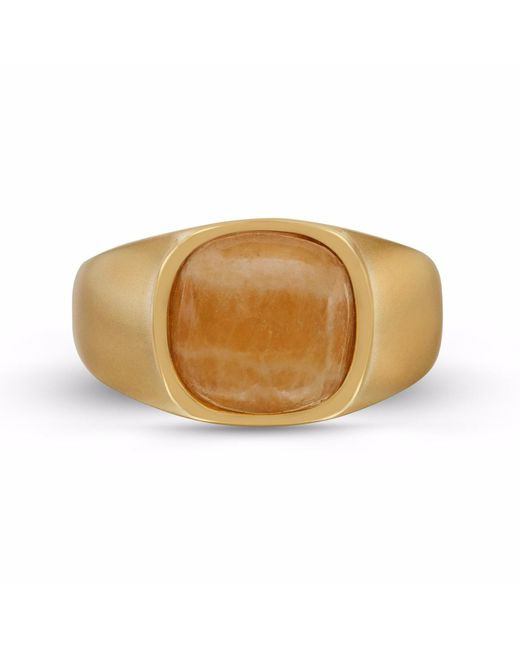 LMJ - Multicolor Yellow Lace Agate Stone Ring - Lyst