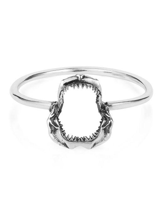 Lee Renee - Metallic Mini Shark Jawbone Ring Silver - Lyst