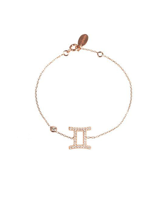 Latelita London | Metallic Zodiac Bracelet Rosegold Gemini | Lyst