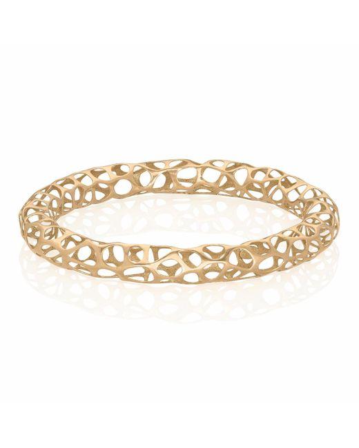 Vitae Ascendere   Metallic Big Lace Gold Bangle   Lyst