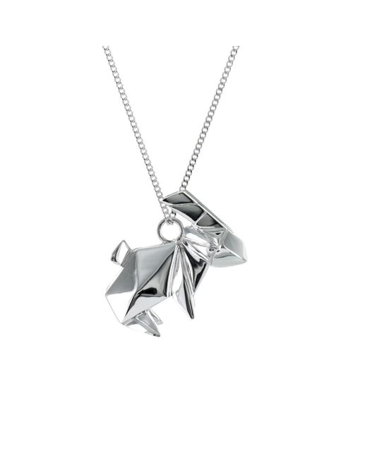 Origami Jewellery - Metallic Rabbit Necklace Sterling Silver - Lyst
