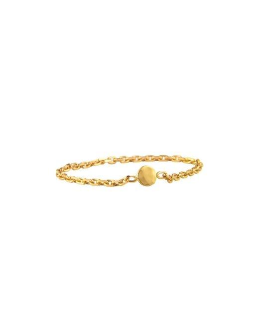 Irena Chmura Jewellery - Metallic Dot & Chain Ring - Lyst