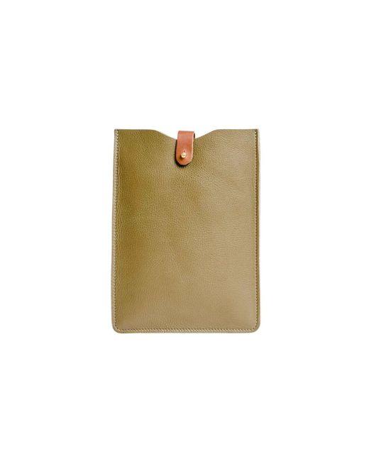 N'damus London - Leather Ipad Mini Sleeve In Olive Green - Lyst