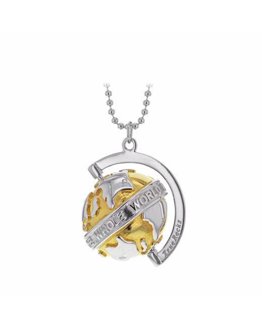 True Rocks - Metallic Two Tone Small Spinning Globe - Lyst