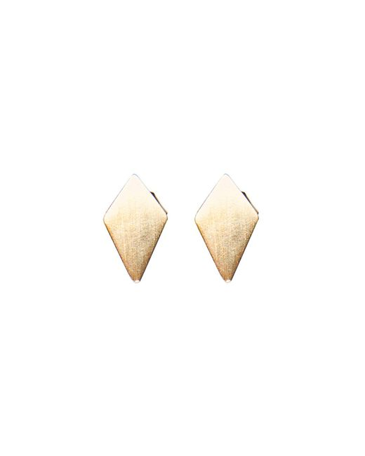 Dutch Basics - Metallic Ruit Stud Earrings - Lyst