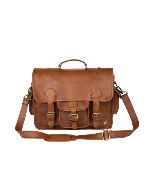 ac19a9199dd9 MAHI Leather - Leather Classic Satchel Messenger Bag In Vintage Brown for  Men - Lyst ...