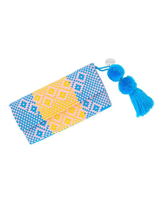 Soi 55 - Blue Conchita Mexican Beach Clutch Purse Elena - Lyst
