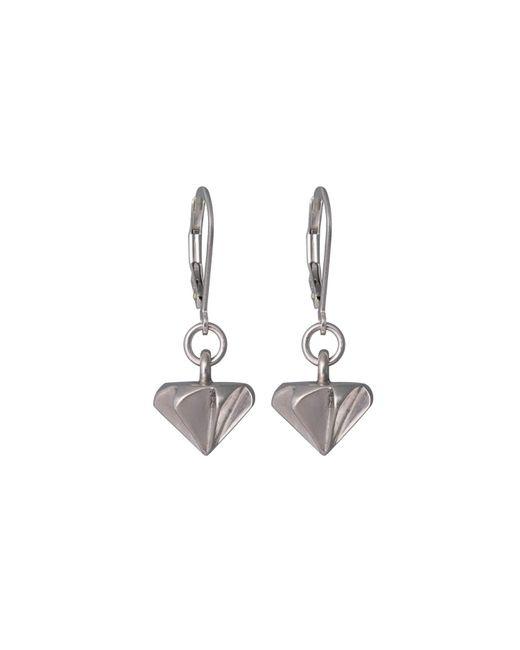 Edge Only - Metallic Countersink Drop Earrings Silver - Lyst