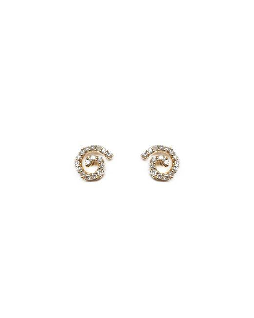Ri Noor - Metallic Mini Seashell Diamond Earrings - Lyst