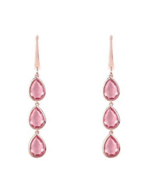 Latelita London - Sorrento Triple Drop Earring Rosegold Pink Tourmaline - Lyst