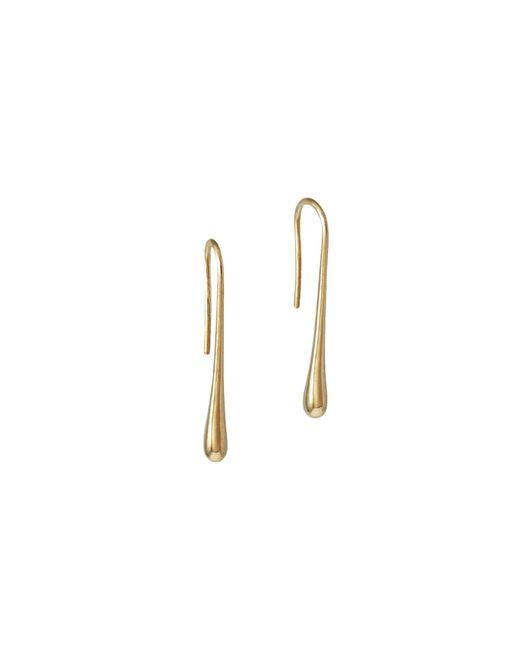 MARIE JUNETM Jewelry - Metallic Droplet Rose Gold Earrings - Lyst